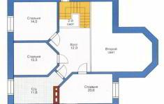 Проект дома 39-11 - план 2 этажа
