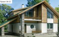 Проект дома 39-12 - главный вид