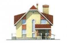 Проект дома 27-11 - 1 фасад