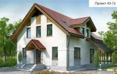 Проект дома 43-12 - главный вид