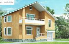 Проект дома 40-11 - главный вид