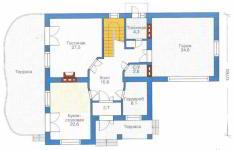 Проект дома 28-11 - план 1 этажа