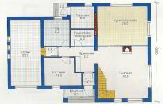 Проект дома 35-12 - план 1 этажа