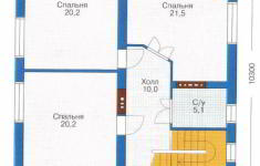 Проект дома 41-11 - план 2 этажа