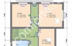 Проект дома БЕРН - план 2 этажа
